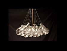 Blown Glass Clear Balloon Chandelier
