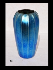 Iridescent Blue Roman Design Vase.