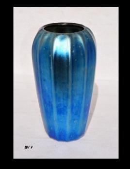 Iridescent Blue Roman Design Vase.