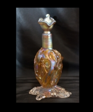 Gold luster Perfume bottle with Lava Design