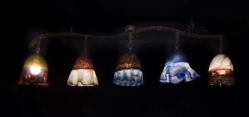 Rustic Bells Glass Chandelier