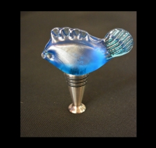 Aqua Marine Iridescent Fish Wine Stopper