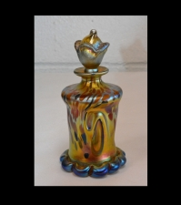 Gold Aurene perfume Bottle With Multi-color Oilspot Design