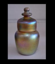 Handmade Gold Luster Pet Urn