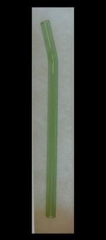 Handmade Green Glass Straw