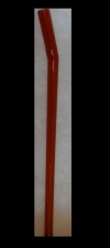 Handmade Red Glass Straw
