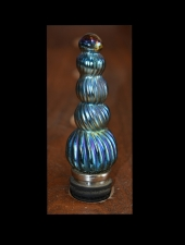 Blue Luster Wine Bottle Stopper
