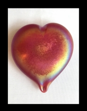 SBPAL Fundraiser Red Heart Paperweight Handmade. FREE SHIPPING