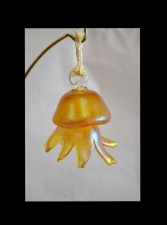 Gold Aurene Jellyfish Christmas Ornament