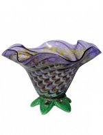 Purple Bowl - B04 - Hand Blown Glass Bowl