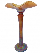 Gold Luster Flower Form - B06 - Hand Blown Glass