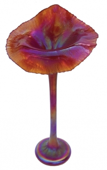 Iridescent Red Jack In The Pulpit - J04 - Hand Blown Glass Art