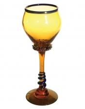 Amber Goblet - G05 Hand Blown Glass Goblet
