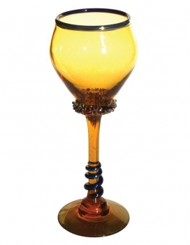 Amber Goblet - G05 Hand Blown Glass Goblet