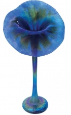 Blue Luster Jack In The Pulpit - J01 - Hand Blown Glass Art. Glass Art for Sale