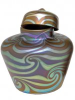 Iridescent Brown/silver urn King Tut Des - U03 -