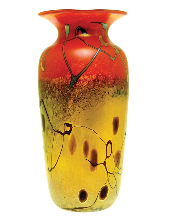 Hand Blown Glass Vases Santa Barbara Art Glass Saul Alcaraz