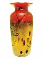 Iridescent Gold/Red/Silver Vase - V16 - Hand Blown Glass Vases
