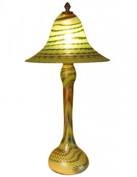 Iridescent Green Lamp - L05 - Hand Blown Glass Lamp