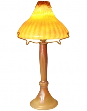 Luster Gold Lamp - L06 - Hand Blown Glass Lamp