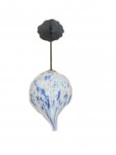 White Organic Onion Shape Pendant Lamp - Hand Blown Glass Lamp