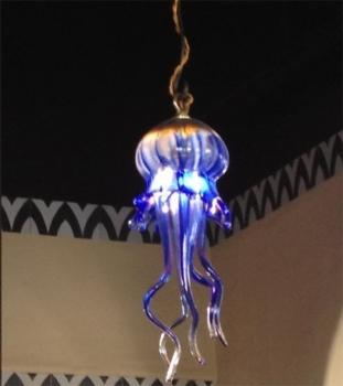 Gorgeous Blue Jellyfish Pendant Lamp