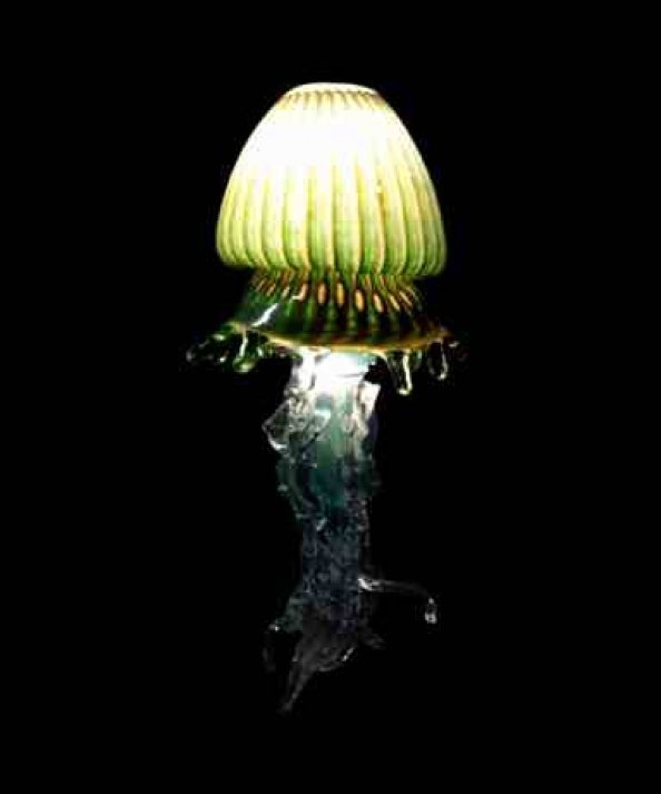 Custom Jellyfish Pendant L&. Glass Art for Sale & Hand Blown Glass Lamp Santa Barbara Art Glass Saul Alcaraz ... azcodes.com