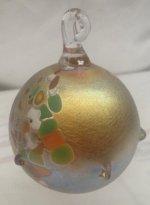 Gold Luster Ornament with multicolor oil spot design