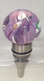 Purple & Pink Wine Bottle Stopper