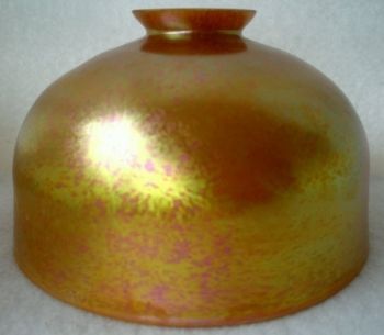 "Gold aurene 10"" Dome Shade. Glass Art for Sale"
