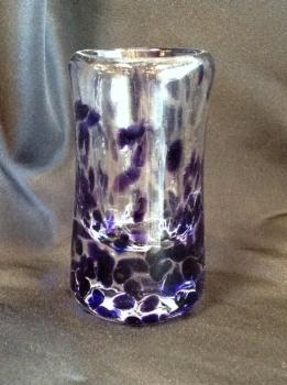 Hand- Blown Purple Tequila shot glasses