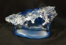 Aqua Marine Wave Sculpture. Glass Art for Sale