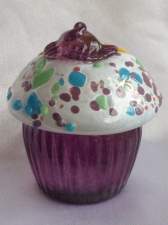 Blown Glass Cup cake. Glass Art for Sale