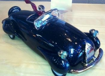 Hand Blown Blue Car Award. Car show Award for best of Show