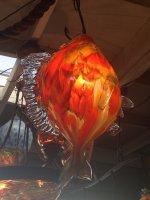 Fish Pendant light.  Blown Glass Lighting fixture