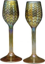24 Karat Gold Luster Wine Glass set of 2. Corporate gifts