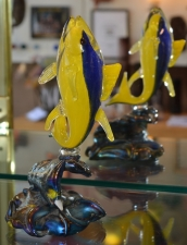 Contemporary Blue & Yellow Fish