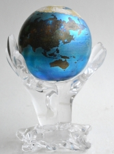 Art Glass Globe with Stand
