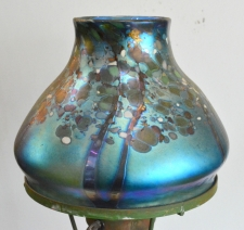 Blue Luster Shade With Multicolor Design