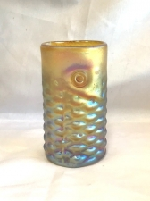 Gold luster Arowana Fish Drinking Glass. Handmade