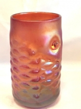 Red Luster Arowana Fish Drinking Glass. Handmade