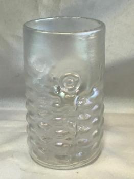 Iridescent Clear Arowana Fish Drinking Glass.  Handblown