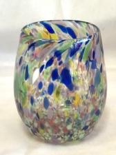 Multicolor Drinking Glass. Handblown