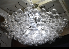 Blown Glass Bubble Orb Chandelier