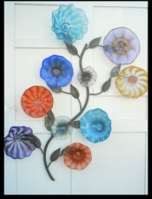 Blown Glass Flower Sculpture