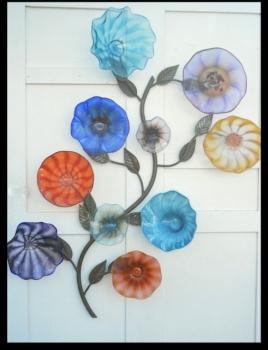 Blown Glass Flower Sculpture
