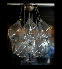 Blown Glass Clear Balloon Chandelier