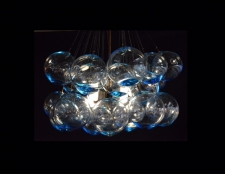 Aqua Marine Glass Bulb Chandelier
